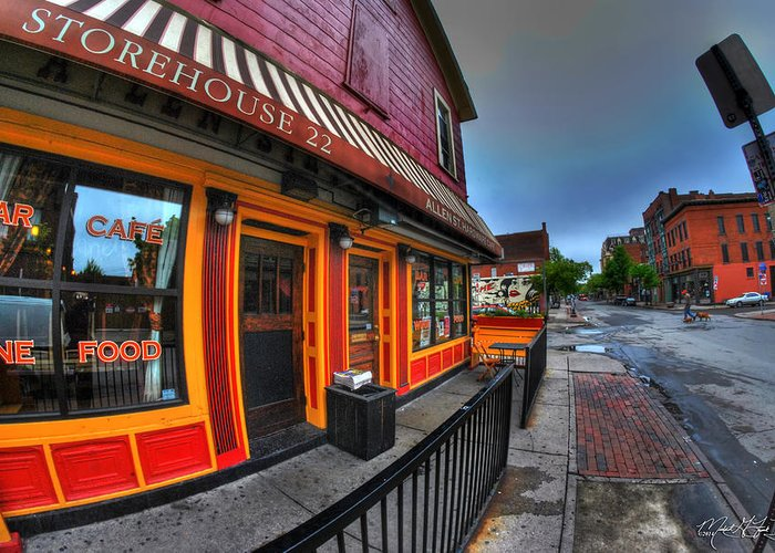 Allentown Greeting Card featuring the photograph 002 Allen St Hardware by Michael Frank Jr
