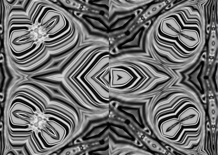 Monochrome Greeting Card featuring the digital art 01-02-2014 by John Holfinger