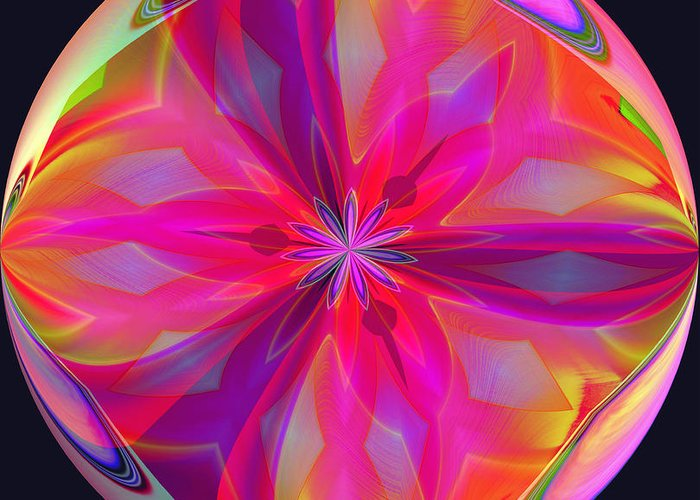 Red Greeting Card featuring the digital art 01-07-2014 by John Holfinger