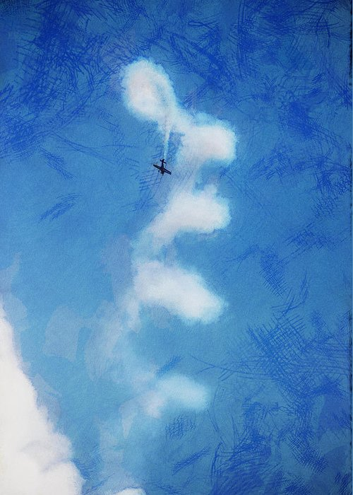 Chicago Greeting Card featuring the digital art 0107 - Air Show - Lux by David Lange