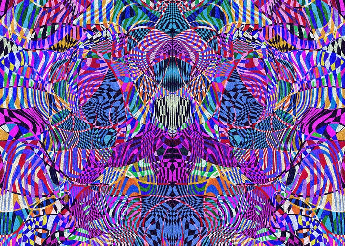 Abstract Greeting Card featuring the digital art 0476 Abstract Thought by Chowdary V Arikatla