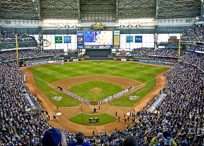 Milwaukee Greeting Card featuring the photograph 0546 Nlds Miller Park Milwaukee by Steve Sturgill
