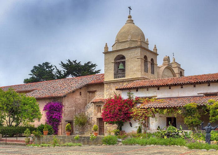 American Greeting Card featuring the photograph Facade Of The Chapel Mission San Carlos Borromeo De Carmelo by Ken Wolter