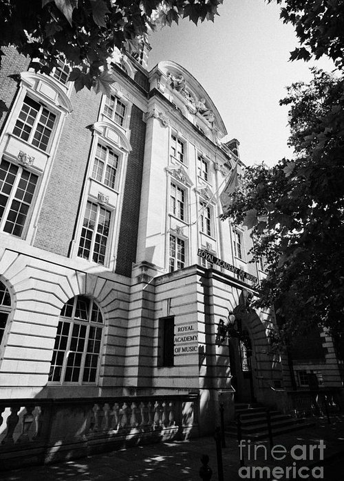 Royal Greeting Card featuring the photograph The Royal Academy Of Music London England Uk by Joe Fox