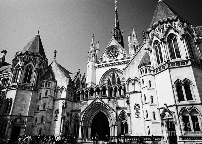 London Greeting Card featuring the photograph The Royal Courts Of Justice London England Uk by Joe Fox