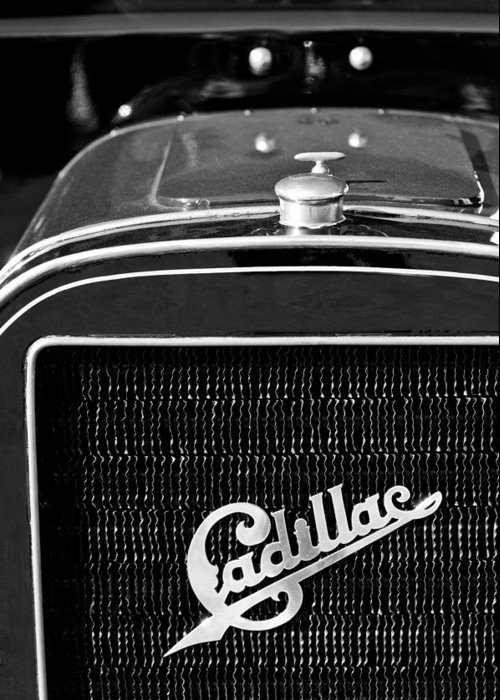 1907 Cadillac Model M Touring Grille Emblem Greeting Card featuring the photograph 1907 Cadillac Model M Touring Grille Emblem by Jill Reger