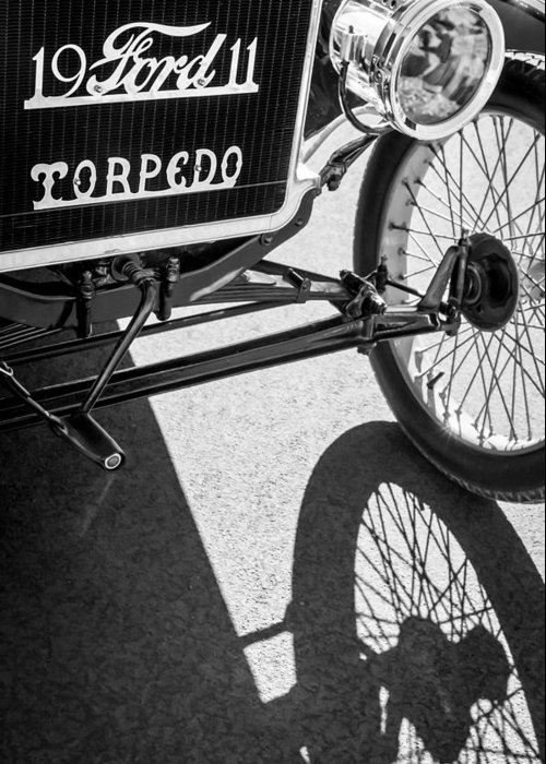 1911 Ford Model T Torpedo Grille Emblem Greeting Card featuring the photograph 1911 Ford Model T Torpedo Grille Emblem by Jill Reger