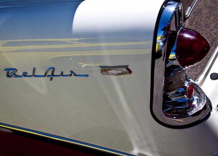 56 Greeting Card featuring the photograph 1956 Chevy Bel Air Custom Hot Rod by David Patterson