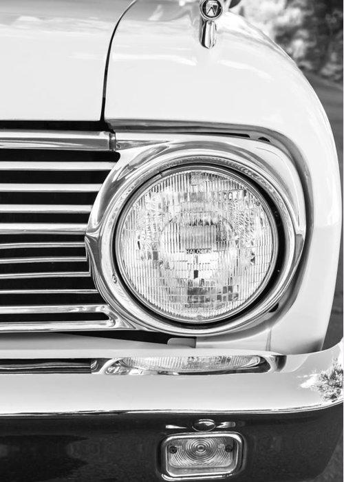 1963 Ford Falcon Futura Convertible Headlight - Hood Ornament Greeting Card