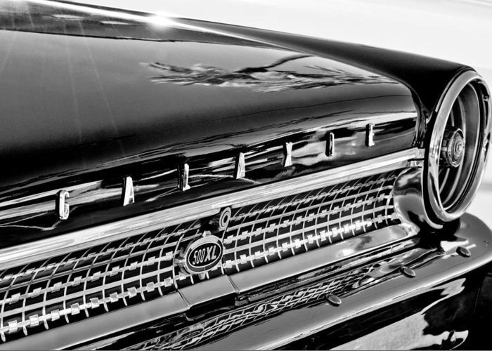 1963 Ford Galaxie 500xl Taillight Emblem Greeting Card featuring the photograph 1963 Ford Galaxie 500xl Taillight Emblem by Jill Reger