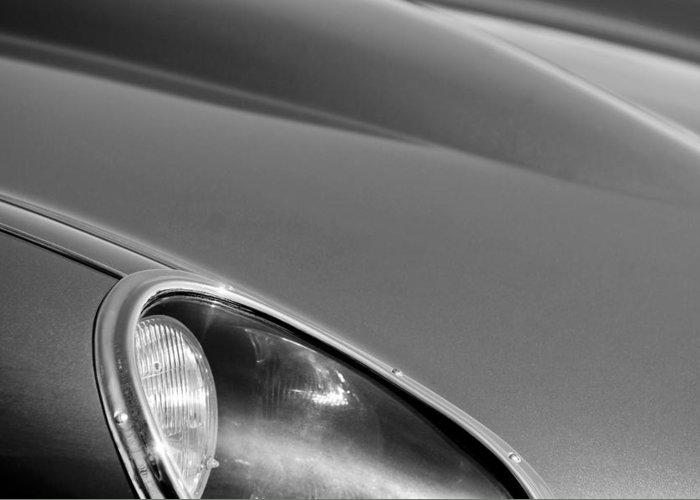 1963 Jaguar Xke Roadster Headlight Greeting Card featuring the photograph 1963 Jaguar Xke Roadster Headlight by Jill Reger