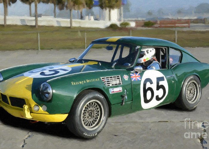 1965 Triumph Spitfire Sebring Greeting Card For Sale By Tad Gage