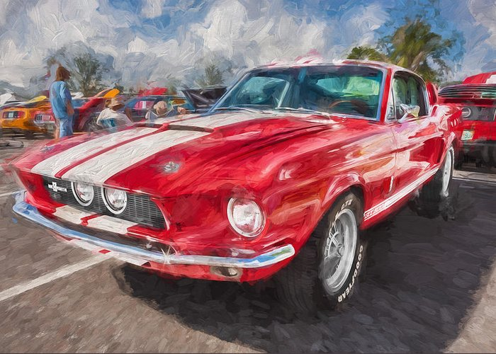 1967 Ford Shelby Gt500 Greeting Card featuring the photograph 1967 Ford Shelby Mustang Gt500 Painted by Rich Franco