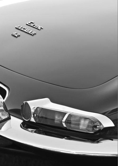 1967 Jaguar E-type 4.2 Liter Series 1 Roadster Taillight Greeting Card featuring the photograph 1967 Jaguar E-type 4.2 Liter Series 1 Roadster Taillight by Jill Reger