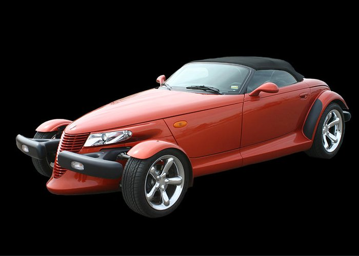 The Design Of The Prowler Was Said To Have Been Inspired After Chrysler Engineers Were Given Free Rein To Create Whatever They Wanted In A hot Rod Or sportster Type Vehicle Greeting Card featuring the photograph 2002 Plymouth Prowler by Jack Pumphrey