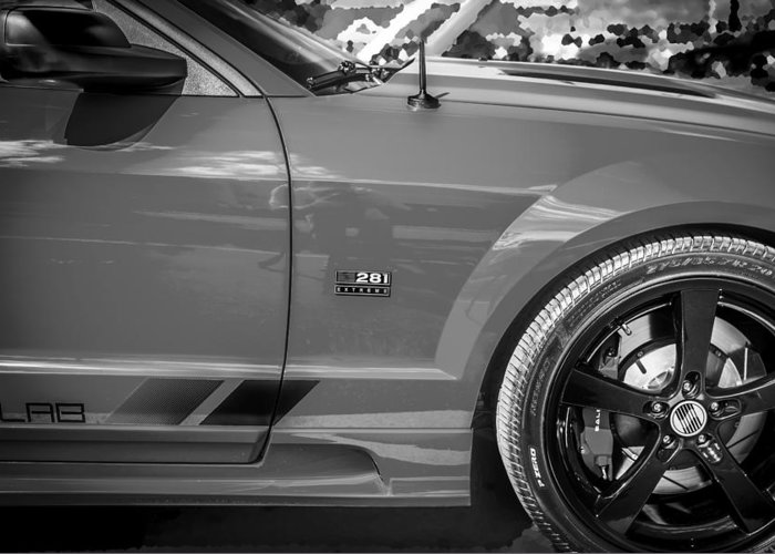 2006 Ford Mustang Greeting Card featuring the photograph 2006 Ford Saleen Mustang Bw by Rich Franco