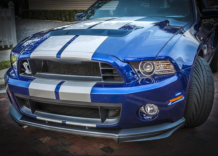 2013 Ford Mustang Greeting Card featuring the photograph 2013 Ford Mustang Shelby Gt 500 by Rich Franco