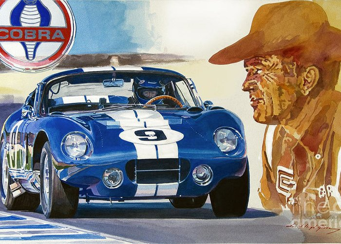 Carroll Shelby Paintings Greeting Cards