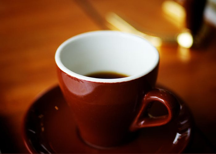 Coffee Greeting Card featuring the photograph A Simple Cup by Argun Tekant