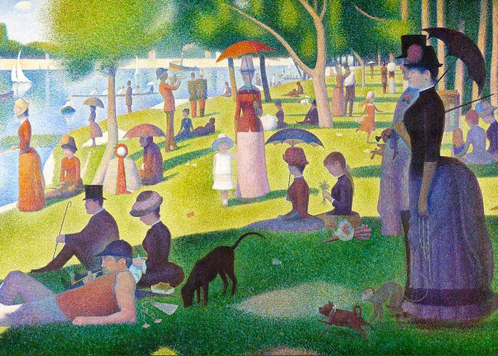 Jatte Digital Art Greeting Cards