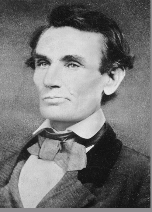 Male Greeting Card featuring the photograph Abraham Lincoln by Unknown
