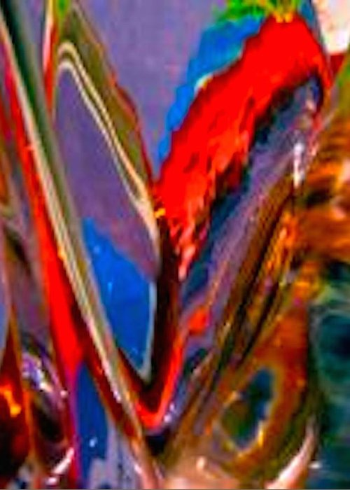 Red Greeting Card featuring the photograph Abstract 4786 by Stephanie Moore