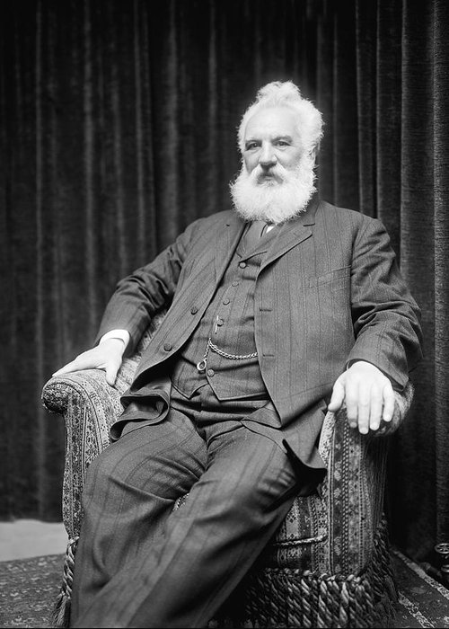 Alexander graham bell greeting card for sale by underwood 1 person greeting card featuring the photograph alexander graham bell by underwood m4hsunfo