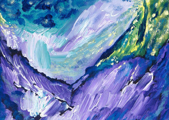 Alpine Joy Greeting Card featuring the painting Alpine Joy by Sheryl Brown