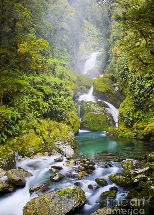 Camping Greeting Card featuring the photograph Amazing Waterfall by Tim Hester