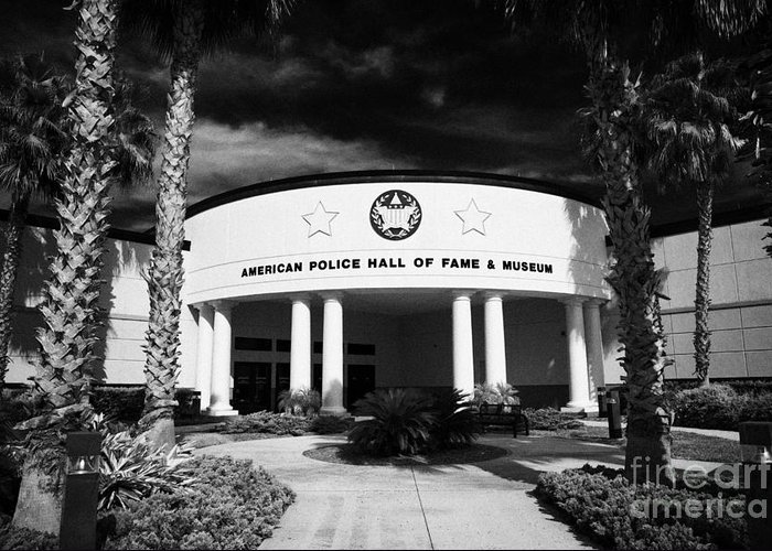Florida Greeting Card featuring the photograph american police hall of fame and museum Florida USA by Joe Fox