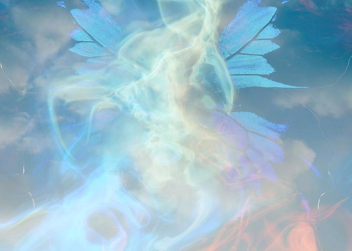 Angel Greeting Card featuring the digital art Angel Wings And Heaven by Sherri Of Palm Springs