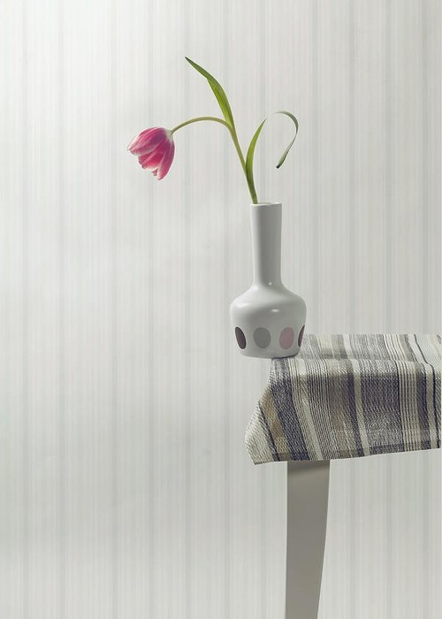Vase Greeting Card featuring the photograph At The Edge by Joana Kruse