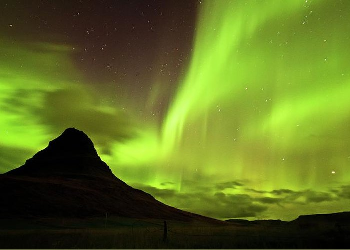 Scenics Greeting Card featuring the photograph Aurora Borealis by Geinis