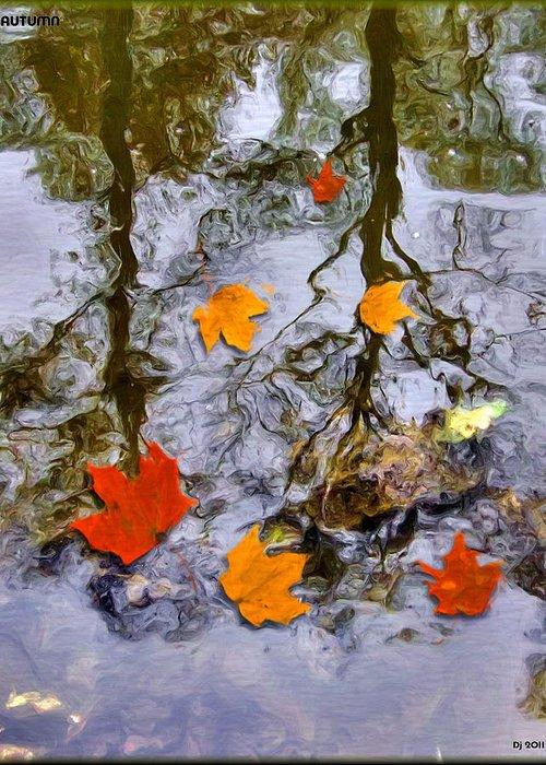 Autumn Greeting Card featuring the digital art Autumn by Daniel Janda