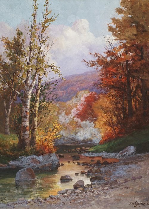 Autumn In The Country Paintings Greeting Cards