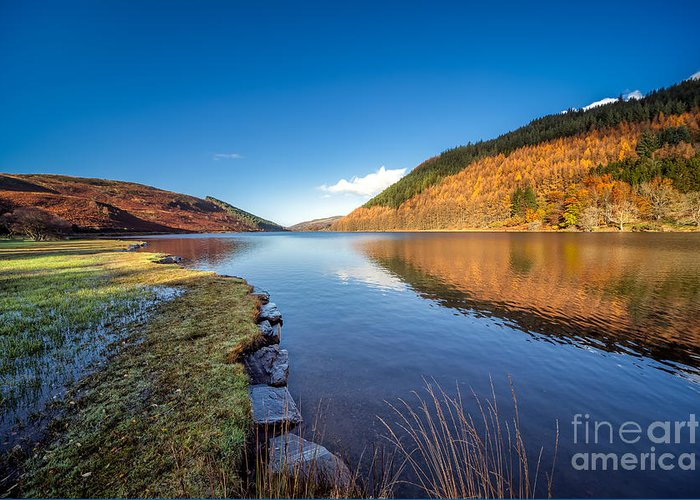 Betws Y Coed Greeting Card featuring the photograph Autumn Reflections by Adrian Evans