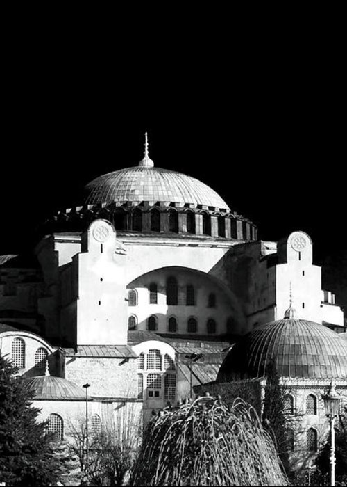 Sultanhmet Greeting Card featuring the photograph Aya Sofya by John Rizzuto
