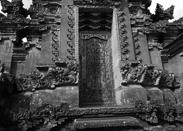 Temple Greeting Card featuring the photograph Balinese Hindu Temple by August Timmermans