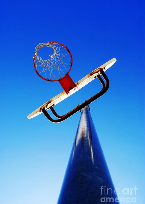 Rule Greeting Card featuring the photograph Basketball Hoop by Lane Erickson