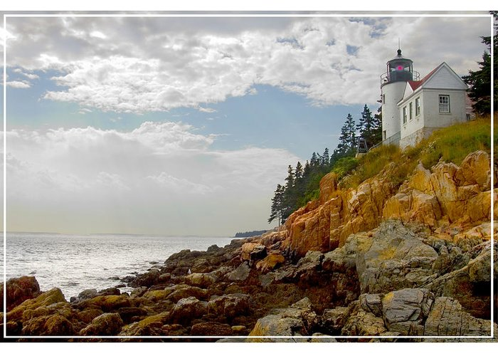 Maine Lighthouse Greeting Card featuring the photograph Bass Harbor Head Lighthouse by Mike McGlothlen