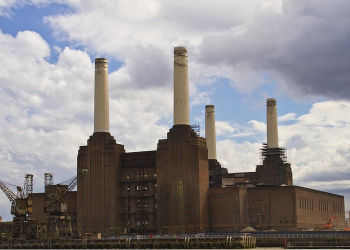 Battersea Power Station Greeting Card featuring the photograph Battersea Power Station London by David French