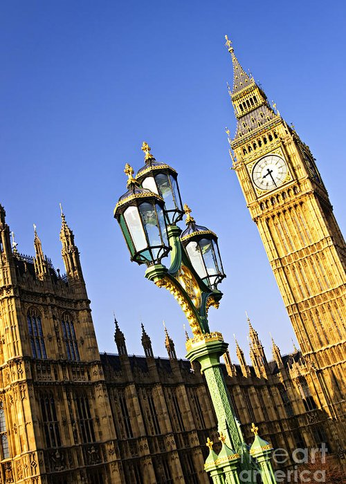 Big Greeting Card featuring the photograph Big Ben And Palace Of Westminster by Elena Elisseeva