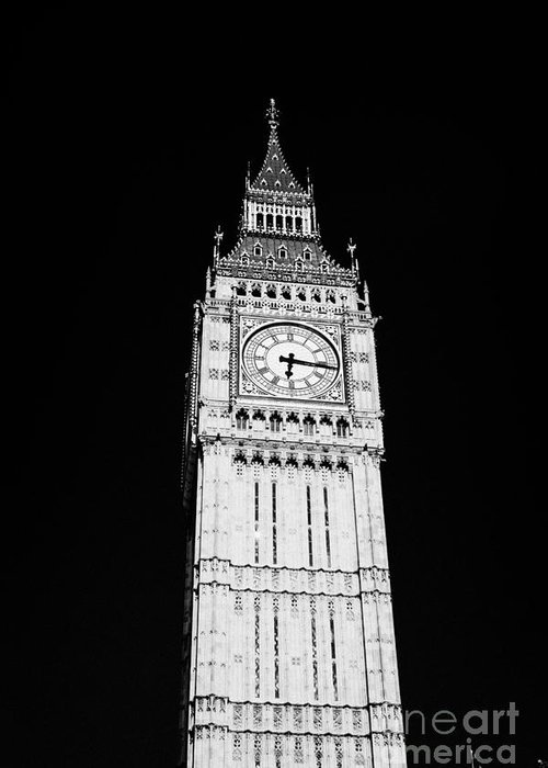 Big Ben Greeting Card featuring the photograph big ben elizabeth clock tower on the houses of parliament London England UK by Joe Fox