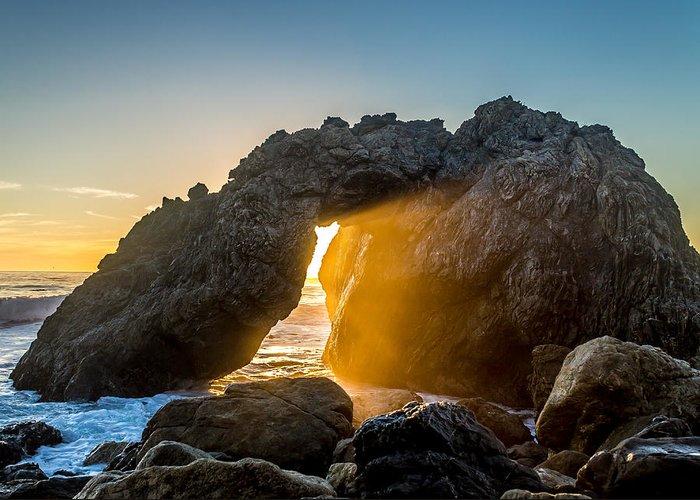 Big Sur Greeting Card featuring the photograph Big Sur Sunbeam by Denis LeBlanc