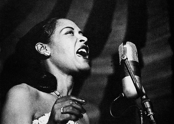 20th Century Greeting Card featuring the photograph Billie Holiday (1915-1959) by Granger