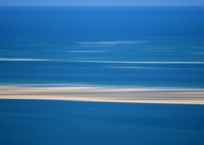 Outdoors Greeting Card featuring the photograph Blurred Sea by Bernard Jaubert