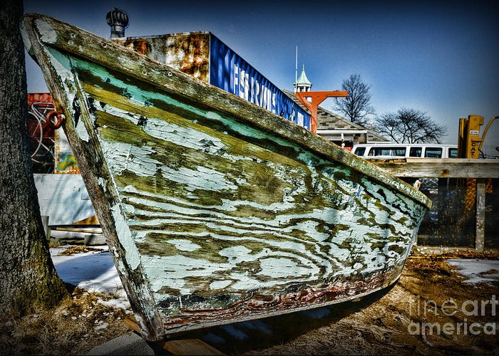 Paul Ward Greeting Card featuring the photograph Boat Forever Dry Docked by Paul Ward