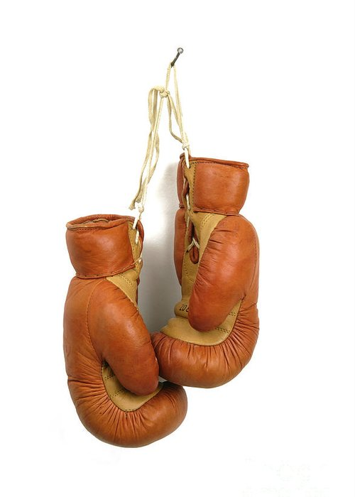 Studio Greeting Card featuring the photograph Boxing Gloves by Bernard Jaubert