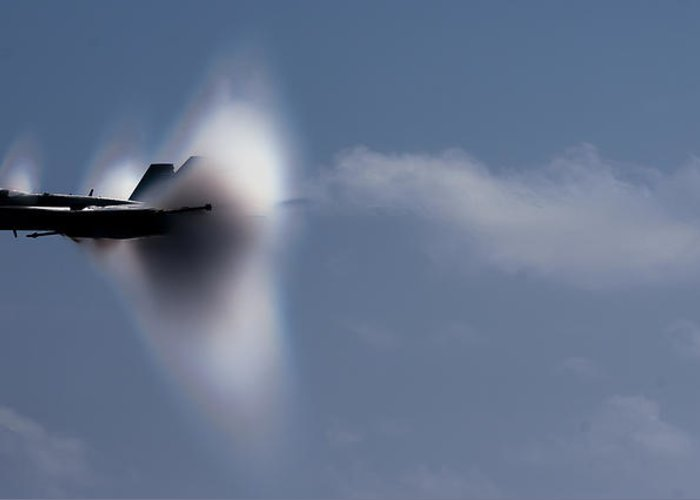 Super Hornet Greeting Card featuring the photograph Breaking The Sound Barrier by Mountain Dreams