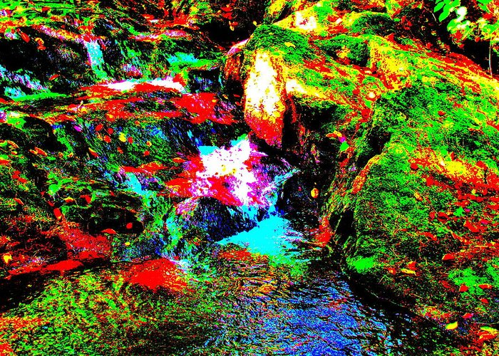 Landscape Greeting Card featuring the photograph Brook Texture 13 by George Ramos